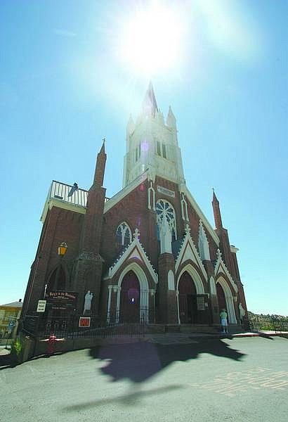 BRAD HORN/Nevada Appeal St. Mary in the Mountains  on the corner of F and Taylor streets in Virginia City is seen on Friday. The historic church will close as soon as next month for up to nine months while being restored.