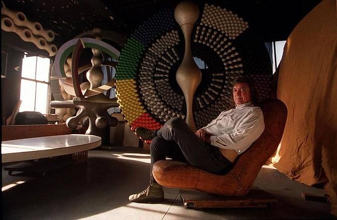 "Bruce Gilbert/Newsday Artist Mihai ""Nova"" Popa in his studio in Water Mill, New York."