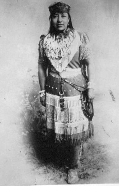 Courtesy of the Nevada Historical Society Sarah Winnemucca poses in this undated photograph. Winnemucca's command of English enabled her to bring the Paiute cause to the nation.
