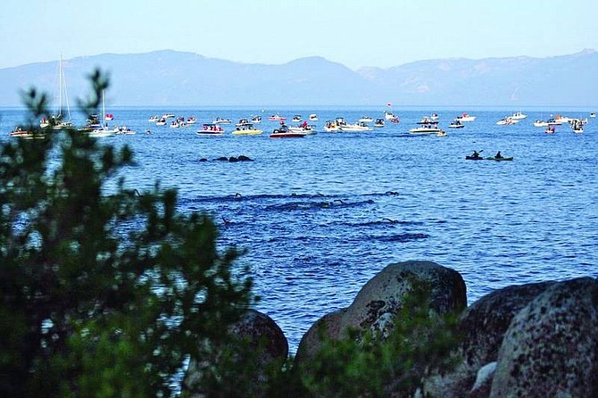 Jen Schmidt/Appeal News ServiceLake Tahoe officials have been inspecting all boats before being allowed to enter the lake since May 16 for invasive mussels.