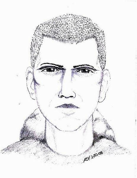 Provided by the University of Nevada, Reno Police Department This police sketch shows a suspect in a rape that occurred last year. A woman who came forward for the first time on Wednesday said she was attacked at gunpoint in a UNR parking garage within 100 yards of a campus police station.