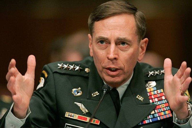 AP Photo/Susan WalshGen. David Petraeus testifies on Capitol Hill in Washington, Tuesday before the Senate Armed Services Committee hearing on the status of the war in Iraq.