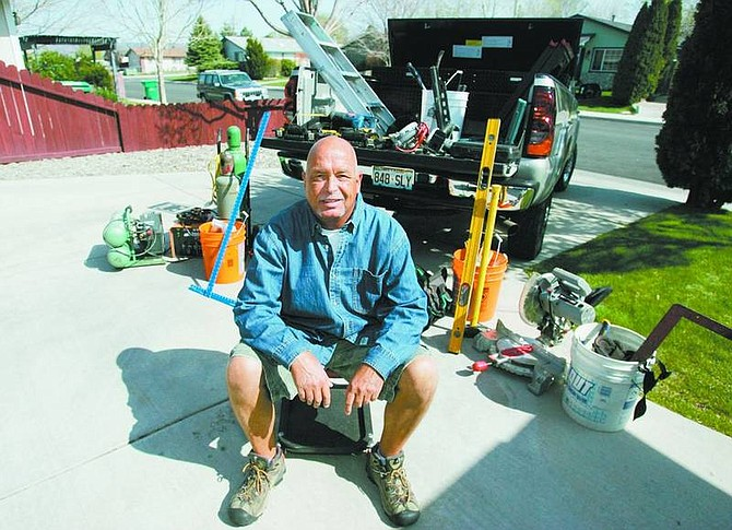 BRAD HORN/Nevada Appeal Michael Buckner will start his home repair business on May 1.