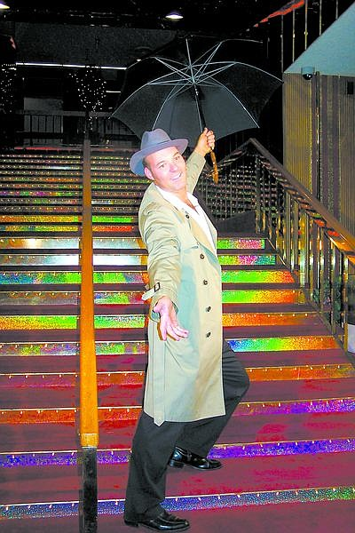 """Submitted photoTony Wyndisch reprises Gene Kelly's role in """"Singing In the Rain"""" from """"A Tribute to the Best of Broadway"""" by the Nevada Civic Light Opera."""