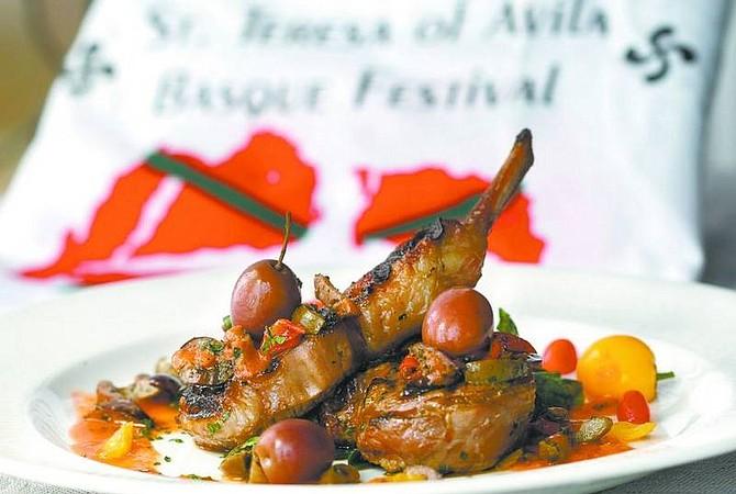 Cathleen Allison/Nevada AppealCharlie Abowd's San Sebastian-style Basque lamb chops with spanish olives and heirloom tomato sauce.
