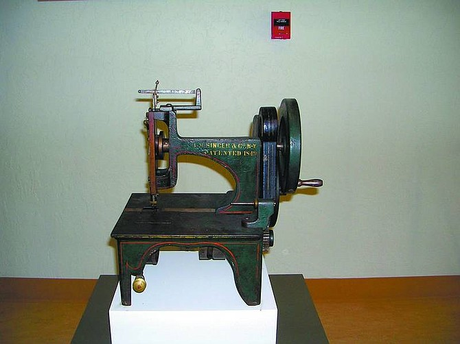 Courtesy Photo This photo shows a Singer sewing machine on exhibit at the Nevada State Museum. It was donated by a family in Washoe Valley in the 1990s.