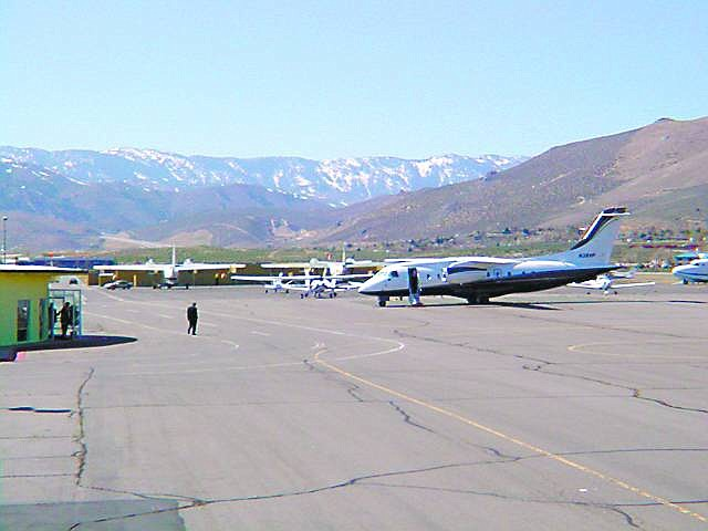 Courtesy Photo This plane is owned by Visionaire, who last week brought the plane into Carson City Airport to show state officials what the plane could do. The state is exploring a possible shuttle between Carson and Vegas.