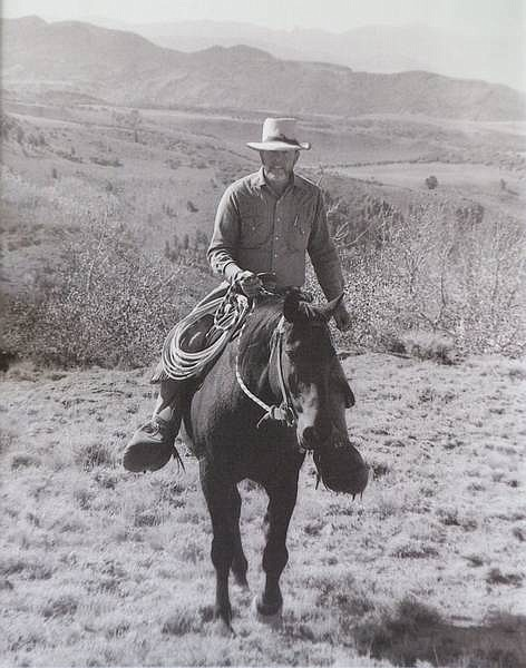 """CJ Hadley/Associated Press An undated picture of Wayne Hage riding his horse on Table mountain in Nevada, taken by CJ Hadley. Hage was the leader of the """"Sagebrush Rebellion"""" and author of the 1989 book """"Storm Over Rangelands: Private Rights in Federal Lands."""" He initiated a lawsuit in 1991 over water rights against the federal government which was ruled in his estate's favor in June."""