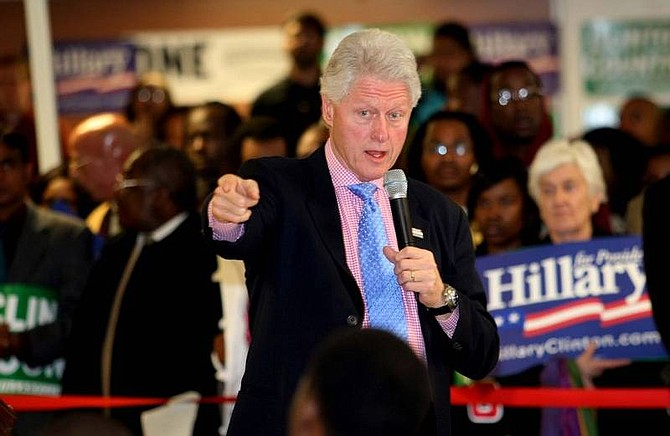 Willis Glassgow/Associated Press Former President Bill Clinton speaks to a group of Hillary Clinton supporters at a town hall type meeting at Claflin University in Orangeburg, S.C. on Thursday.