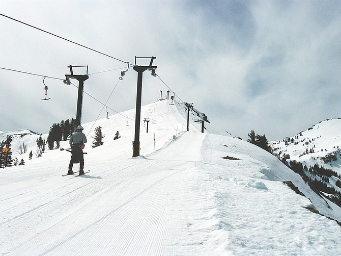 Courtesy of David RittenhouseSkiers and boarders can now ride the surface T-bar tow to ski areas only reached by a long hike. Two lifts are now in operation.