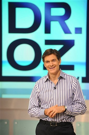 "In this publicity image released by Harpo, Inc., Dr. Mehmet Oz is pictured during the production of ""The Dr. Oz Show"" in New York on Wednesday, Aug. 12, 2009. (AP Photo/Harpo Inc., David M. Russell)"