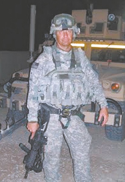 Courtesy photoSgt. Gary Underhill rode in the turret Sept. 11 protecting the back of the convoy.