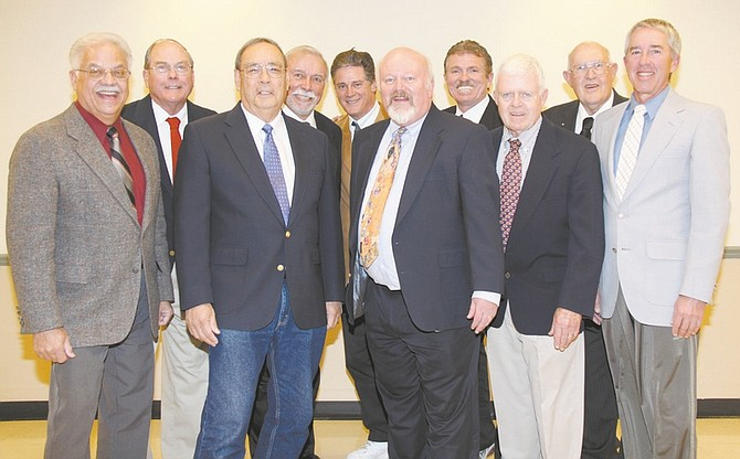 Chuck Harris/Photo ProvidedChorus of the Comstock Barbershop singers of Carson City recently announced the incoming officers for 2010. They are, from left to right, Dave Ramer, immediate past president, Don Hunter, member at large, Rudy Moreno, treasurer, Tom Chaney, member at large, Rook Wetzel, marketing, Paul Muller, president, Bob Schirris, program vice president, David Smith, secretary Ralph Denny, membership vice president, Dan Wager, music vice president.