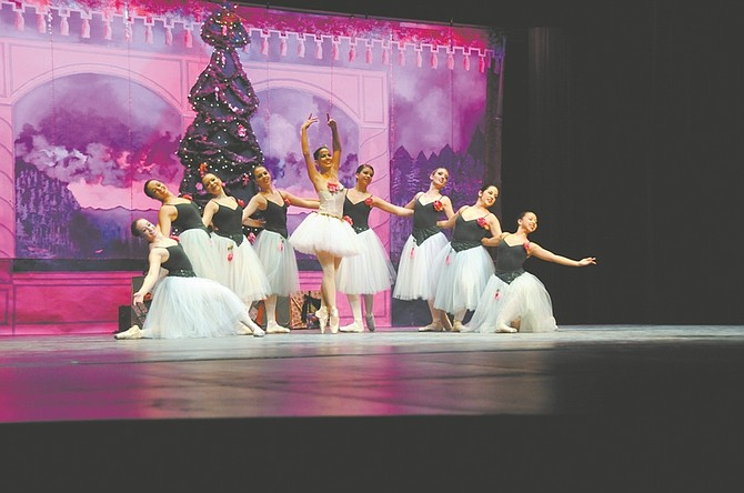"""CourtesyThe Dance of the Sugar Plum Fairies is one of the classic pieces from """"The Nutcracker Ballet"""" re-tailored for younger audiences in the Sierra Nevada Ballet's production of """"PEANUTCRACKER - The Story in a Nutshell."""""""