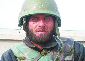 The face of an Afghan fighter, fighting for his country.  What I have