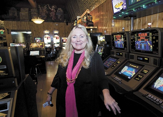 Cathleen Allison/Nevada AppealKristy Servati, marketing director for the Horseshoe Club, is moving to Dubai.