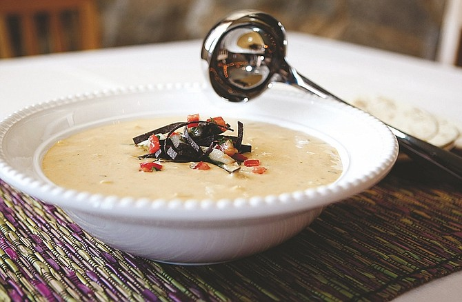 Shannon Litz/Nevada AppealBrian Shaw's cheddar and poblano chile soup makes a comforting meal for cool weather.
