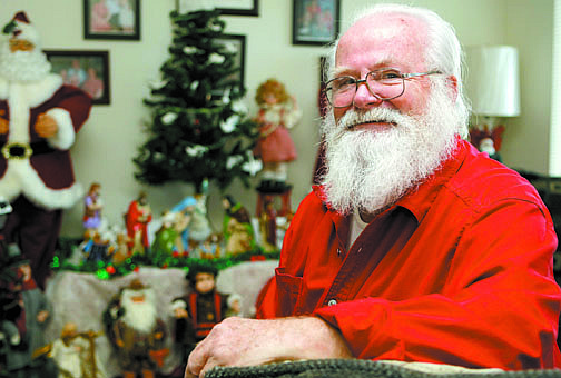 Shannon Litz/Nevada AppealAl Terpening, who volunteers portraying Santa Claus at the Carson City library, sits at home in Carson on Thursday.