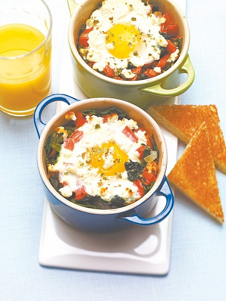 """Caption:This baked egg dish features green peppercorns with goat cheese, a flavor pairing predicted to be """"hot"""" in 2011. Photo courtesy of McCormick's Flavor Forecast, www.flavorforecast.com"""