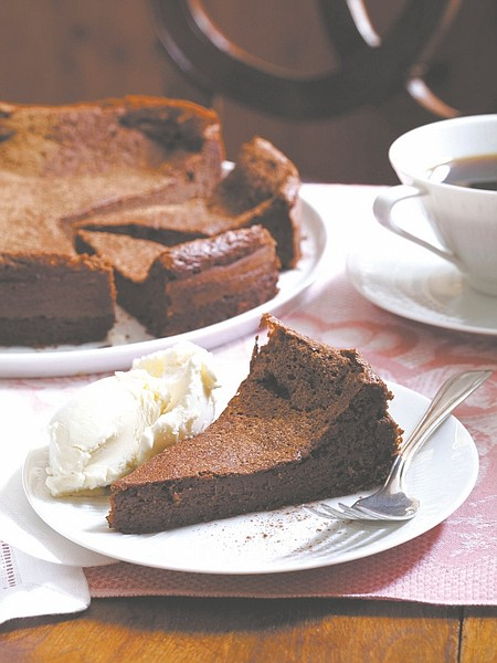"""Alan Richardson/ """"Around My French Table&#82A Double-Chocolate Mousse Cake gives a special meal a chocolaty ending."""