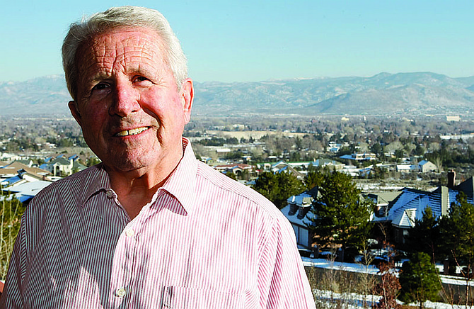 Shannon Litz/Nevada AppealNorm Scoggin, shown here at his west Carson City home, has seen many changes since he entered the Carson City School District as a student more than 60 years ago. Tuesday will be his last school board meeting after a dozen years on the board.
