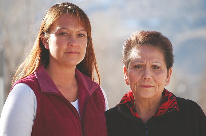 Brian Duggan/Nevada AppealLang Bongers, 70, right, and her daughter, Carol Bongers-Earle, 38. Lang Bongers' safe containing custom jewelry was stolen on Jan. 20.