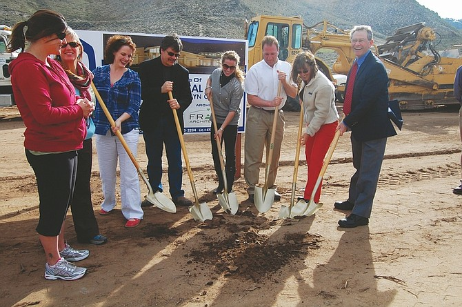 Nevada Appeal File PhotoMembers of the Carson Medical Group, Shaheen Beauchamp Builders LLC., Frame Architecture and Wikoff Design Studio participate in a ground breaking ceremony for a 21,000 square foot building that will house CMG's obstetricians and pediatricians. President Jim Breeden said the $4 million project is expected to be completed by April 2012.