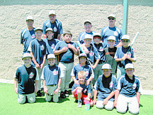 CourtesyThe Sierra Boys of Summer U11 Traveling baseball team consists of, back row: Manager Roy Good, coaches Steve Damico, Richard Painter and Peter Zemp. Second row: Colby Zemp, Nick Phifer, Vernon Painter, Garret Damico, Teigen Key, Brett Pettersen, Hayden Hudson. Front row: Braxton Carter, Ian Pettersen, Kahle Good, Dillon Damico, Chris Pfizer, Jared Barnard. Not pictured is Joe Gallo. The team is hosting a car wash fundraiser to help one of there members Hayden Hudson and family members Molly and Liz Hudson an Eleanor Muscott who lost there home to a fire on July 24.