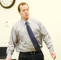 Shannon Litz/Nevada AppealJustin Carrigan enters the courtroom on Thursday morning.