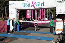 CourtesyMegan Waskiewicz, a trainer for Kaia F.I.T. in Carson City and Minden, took first place in the Iron Girl Triathlon in Lake Tahoe on Sunday. Dozens of local women also competed.