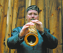 Published Caption: Naill McGuinness, above, and his band New World Jazz Project, perform Friday from 6:30 to 10 p.m. at the Fresh Ketch in the Tahoe Keys Marina. The jazz band has a new keyboardist, George Tavoularis, who recenty relocated from Hawaii. Greg McLean plays bass and Eric Finkelstein is on drums.