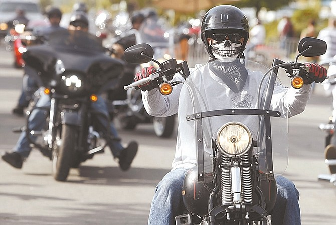 Shannon Litz / Nevada AppealBikers head to Carson City Harley-Davidson on Friday during Street Vibrations.