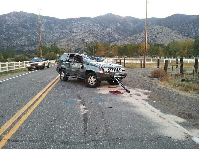 Courtesy of NHPThe Jeep that Carson City resident Lynette Lucille Cieri was driving after it rolled over on Saturday. Cieri died at the scene.