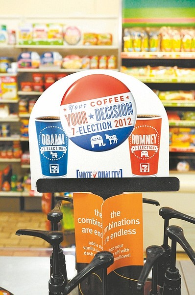 CourtesyPresident Barack Obama leads Republican challenger Mitt Romney 60-40 percent in 7-Eleven's Presidential Coffee Cup Poll.