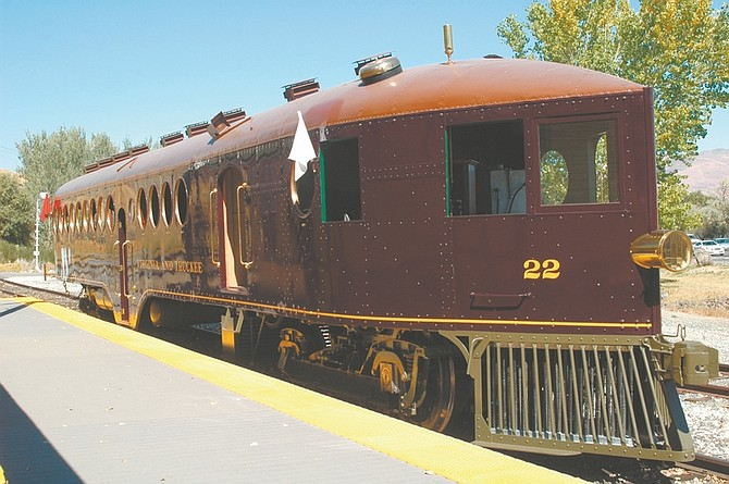 CourtesyThe McKeen Motor Car at the Nevada State Railroad Museum has been designated a historic landmark by Secretary of the Interior Ken Salazar.