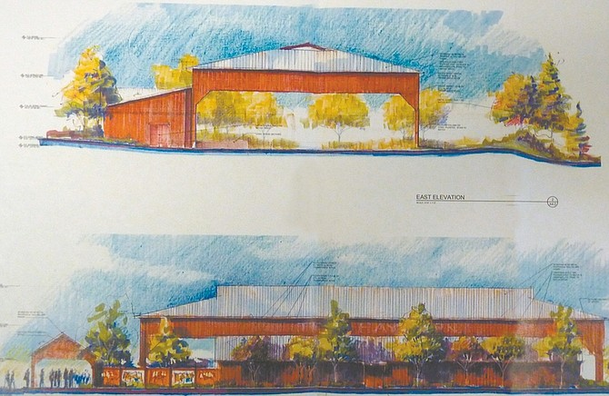 Larry Henry ArchitectureAn architect's rendering shows two angles of the planned outdoor events center at Carson Valley Inn.