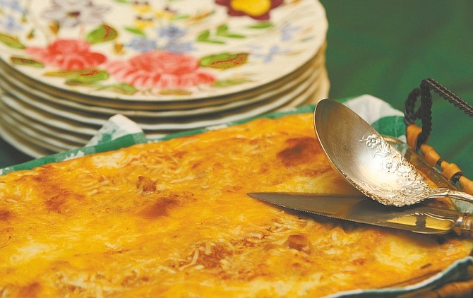 Jim Grant / Nevada appealMuffy Vhay's easy red, white and green vegetarian holiday lasagna.
