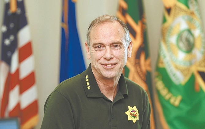 Jim Grant / Nevada AppealSheriff Kenny Furlong hopes simple assaults decrease in CarsonCity in 2013.