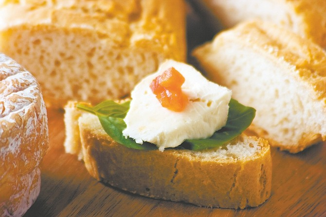 Courtesy of Zac MathewsonSusan Hart's gluten-free baguettes make for a great appetizer.