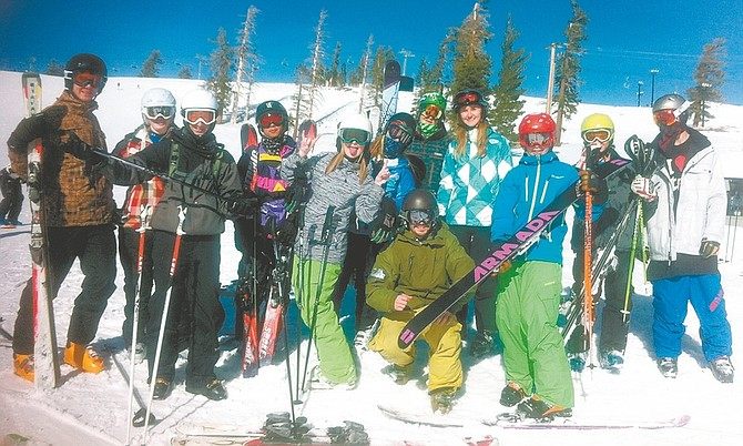 CourtesyThe Carson High School ski team is in the middle of its season with several competitions coming up.