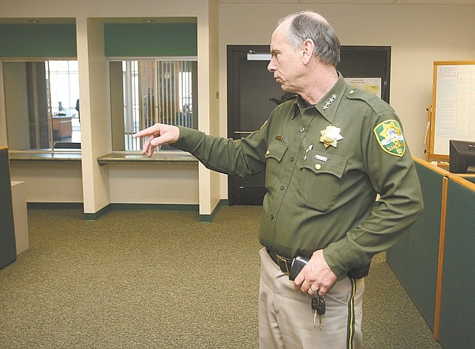 Shannon Litz / Nevada AppealCarson City Sheriff Ken Furlong talks about the open space at the sheriff's office.