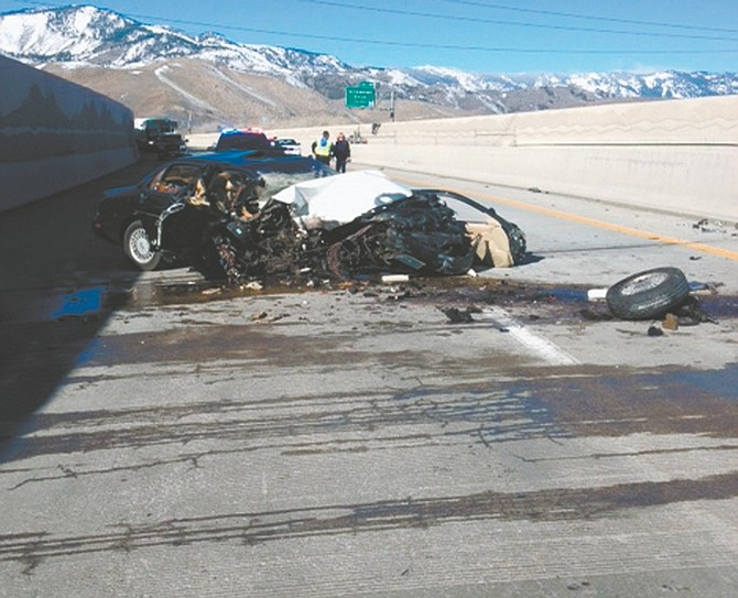 Courtesy NHPA man died Saturday morning in a single-vehicle crash on southbound Interstate 580 just north of College Parkway.