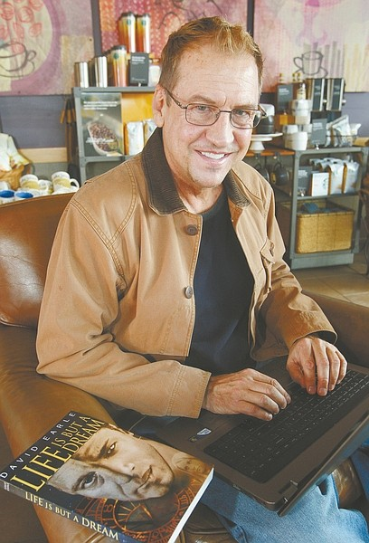 "Jim Grant / Nevada AppealAuthor David Earle with his latest book ""Life is but a Dream."""