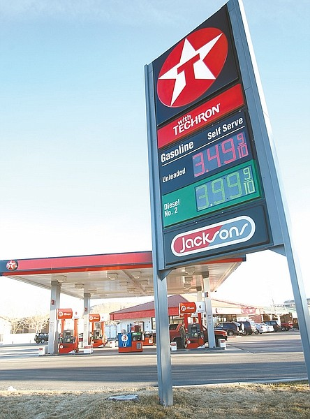 Shannon Litz / Nevada AppealThe Texaco station at Saliman and Fifth Street is shown on Thursday.