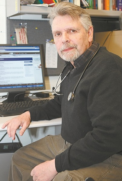 Shannon Litz / Nevada AppealDavid Ramsey, nurse practitioner, is seen in his Carson City Jail office.