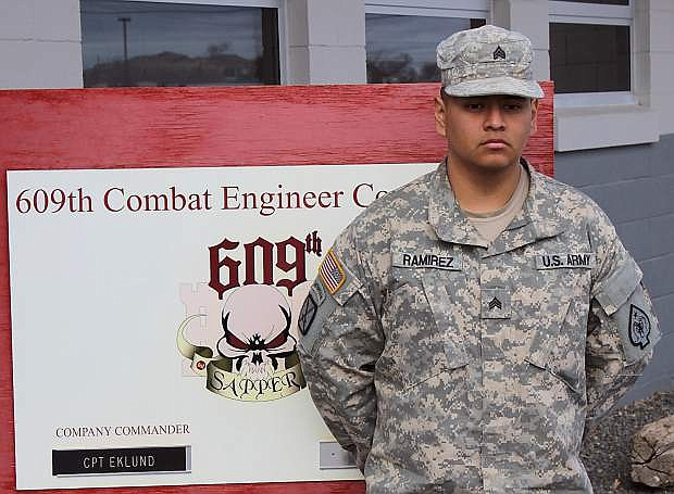 Sgt. Jose Ramirez, a soldier with the 609th Combat Engineer Company in Fallon, will represent the battalion in the state's NCO of the Year program.