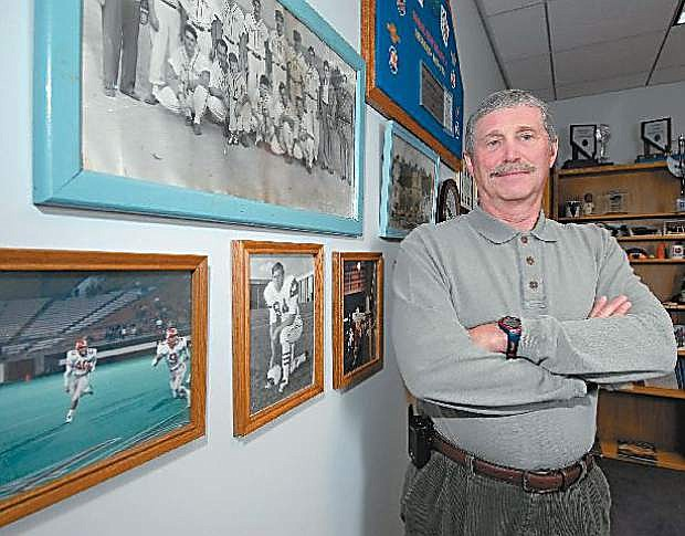 Jerry Hughes is seen after retiring as Nevada Interscholastic Activities Association's executive director. Hughes retired after 17 years of guiding the organization.