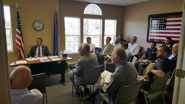 Western Manufacturing Alliance members met with Lt. Gov. Mark Hutchison on Thursday at the NNDA offices in Carson City.