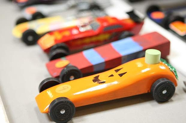 The annual Nevada Day Pinewood Derby at the Carson Mall on Saturday.