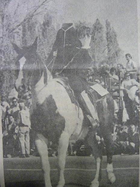 From the Nevada Appeal on Nov. 2, 1969: The Headless Horseman marches in the Nevada Day Parade down Carson Street.